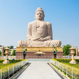Mahabodhi Temple, Bodhgaya. Great Buddha Statue near Mahabodhi Temple in Bodh Gaia, Bihar state of India Stock Photography