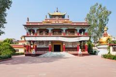 Mahabodhi Temple, Bodhgaya. Tibetan Karma Kagyu Temple (Tibet Monastery) near Mahabodhi Temple in Bodh Gaia, Bihar state of India Stock Photography