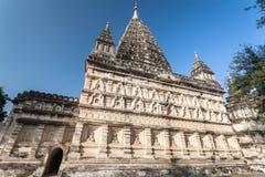 Mahabodhitempel in Bagan, Myanmar stock afbeelding