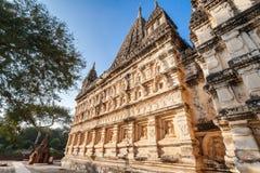 Mahabodhitempel in Bagan, Myanmar stock foto's