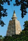 Mahabodhitempel in Bodhgaya in India Stock Afbeelding
