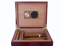 Mahagony humidor - isolated Royalty Free Stock Photography