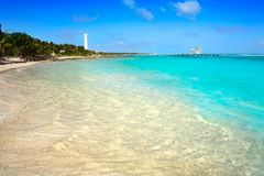 Mahahual Caribbean beach in Costa Maya Royalty Free Stock Images