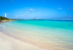 Mahahual Caribbean beach in Costa Maya Royalty Free Stock Image