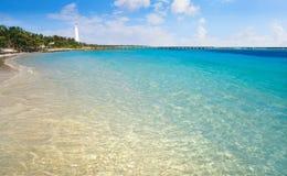 Mahahual Caribbean beach in Costa Maya Royalty Free Stock Photography