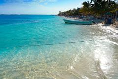 Mahahual Caribbean beach in Costa Maya. Of Mayan Mexico Royalty Free Stock Photo