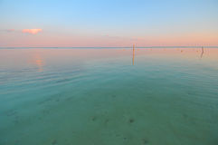 Mahahual in Mexico. Picture of a calm surface somewhere close to Mahahual beach Stock Image