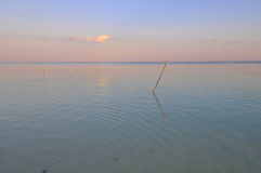 Mahahual in Mexico. Picture of a calm surface somewhere close to Mahahual beach Royalty Free Stock Image