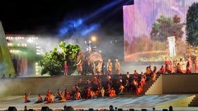 Mahajanaka the Phenominon Live Show for loyal the king Royalty Free Stock Photo