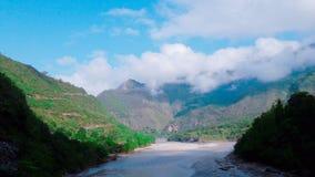 Mahakali flod arkivfoto