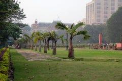Mahakaran Garden in front of the Writers Building in Kolkata Royalty Free Stock Photo