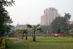 Mahakaran Garden in front of the Writers Building in Kolkata. India Stock Images