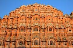 mahal的Hawa -风宫殿在印度 免版税库存图片
