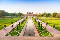 Mahal κήπος Taj Στοκ φωτογραφίες με δικαίωμα ελεύθερης χρήσης