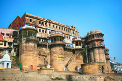 Mahal ghat on the banks of Ganges river, India Royalty Free Stock Photos