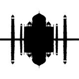 mahal reflekterad taj stock illustrationer