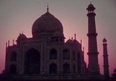 mahal rosa soluppgångtaj royaltyfria foton