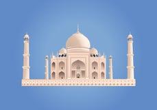 mahal taj Ινδία διάνυσμα Πολύ υψηλή λεπτομέρεια Στοκ Φωτογραφία