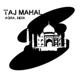mahal taj της Ινδίας Στοκ Φωτογραφία
