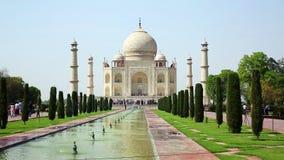 mahal taj της Ινδίας agra απόθεμα βίντεο