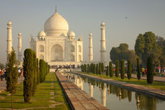 Mahal Taj Arkivbilder