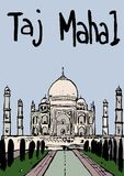 mahal taj stock illustrationer