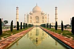 Mahal Taj, Agra, India. stock afbeelding