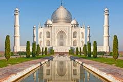 Mahal Taj, het beroemde historische monument van A, India Royalty-vrije Stock Afbeeldingen