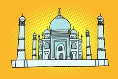 mahal taj Indien asia Resa och turism royaltyfri illustrationer
