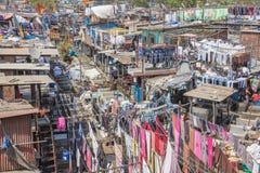 The Mahalaxmi Dhobi Ghat open air laundromat Royalty Free Stock Photo