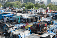 Mahalaxmi Dhobi Ghat. This dhobi ghat, or outdoor laundry, is considered to be the largest of its kind in the world. Here laundry from all over the city is Royalty Free Stock Photos