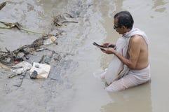Mahalaya在加尔各答。 库存图片