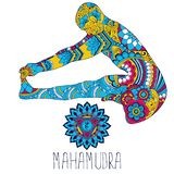 Mahamudra joga stanowi ilustracja wektor