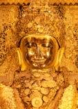 Mahamuni Buddha, Buddha dorato a Mandalay, Myanma Fotografia Stock Libera da Diritti