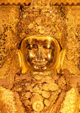 Mahamuni Buddha, Golden Buddha in Mandalay, Myanma. R, Closeup Royalty Free Stock Photography