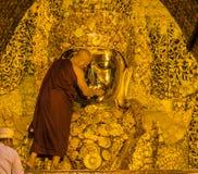 Mahamuni Buddha image Stock Images