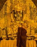 Mahamuni Buddha in Mandalay, Myanmar Royalty Free Stock Photos