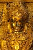 Mahamuni buddha, Myanmar, Mandalay Arkivbild