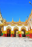 Mahamuni Buddha Temple, Mandalay, Myanmar Royalty Free Stock Photography