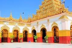 Mahamuni Buddha Temple, Mandalay, Myanmar stock image