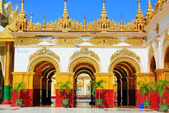 Mahamuni Buddha Temple, Mandalay, Myanmar. The Mahamuni Buddha Temple is a Buddhist temple and major pilgrimage site, located southwest of Mandalay, Myanmar. The Stock Image