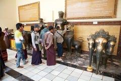 Mahamuni Buddha Temple Mandalay, Myanmar Royalty Free Stock Images