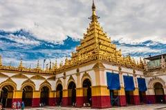 The Mahamuni Buddha Temple, Mandalay, Myanmar stock photos