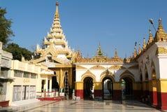 The Mahamuni Pagoda or Mahamuni Buddha temple at Mandalay Royalty Free Stock Photo