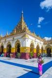 Mahamuni Pagoda in Mandalay , Myanmar. MANDALAY , MYANMAR - SEP 02 : Mahamuni Pagoda in Mandalay, Myanmar on September 02 2017. Mahamuni is a Buddhist temple and Stock Photos
