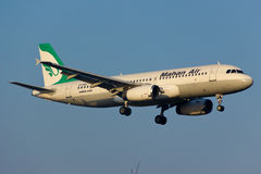 Mahan空气空中客车A320 库存图片