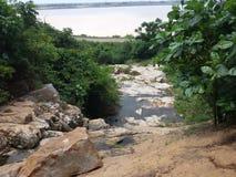 Mahanadi hirakud stock afbeelding