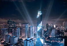 MahaNakhon tower and skyscraper Stock Image
