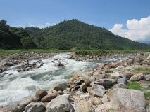 Mahananda flod royaltyfria foton