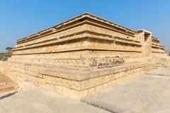Mahanavami platform monument, Hampi, Karnataka, India. Mahanavami platform monument in Hampi, Karnataka, India, Asia stock photo